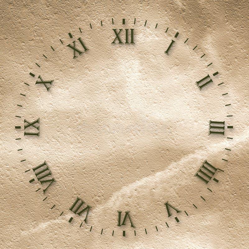 Face do relógio antiga ilustração do vetor