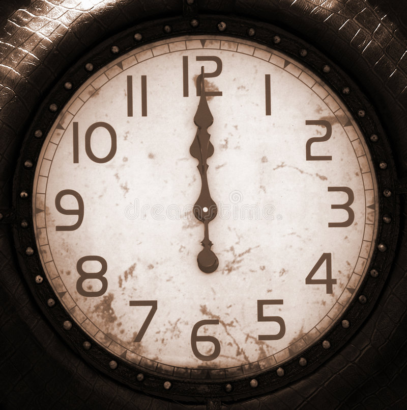 Face do relógio antiga imagens de stock