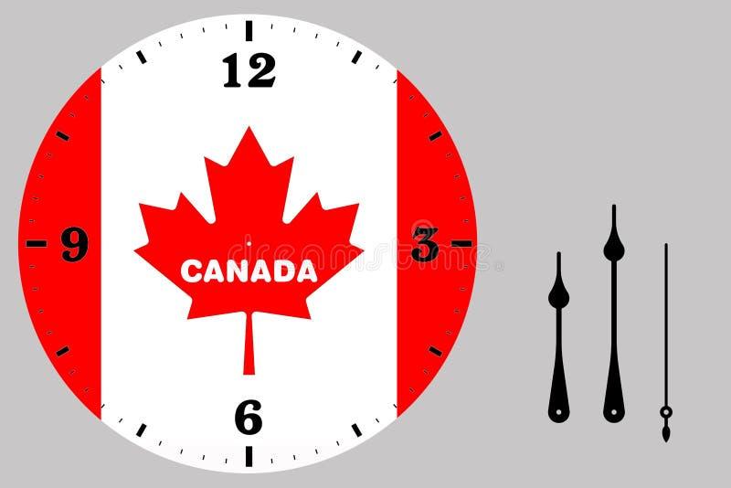 Face do relógio - Canadá ilustração royalty free