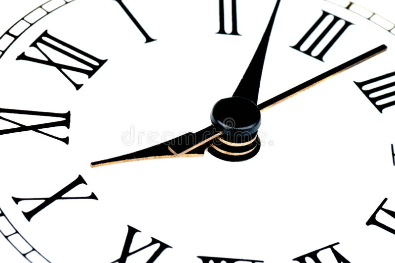 Face do relógio com foco no centro ilustração stock