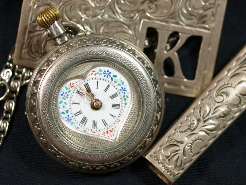 Face do relógio de Antuque fotografia de stock royalty free