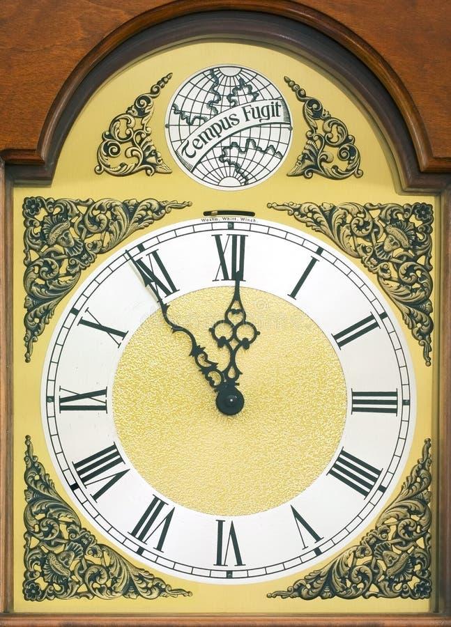 Face do relógio do Tempus Fugit foto de stock royalty free
