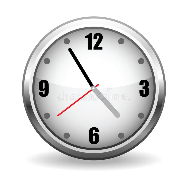 Face do relógio do vetor ilustração stock