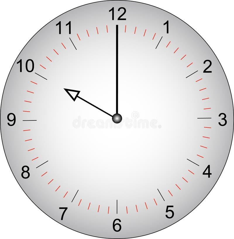 Face do relógio em 10 horas ilustração do vetor