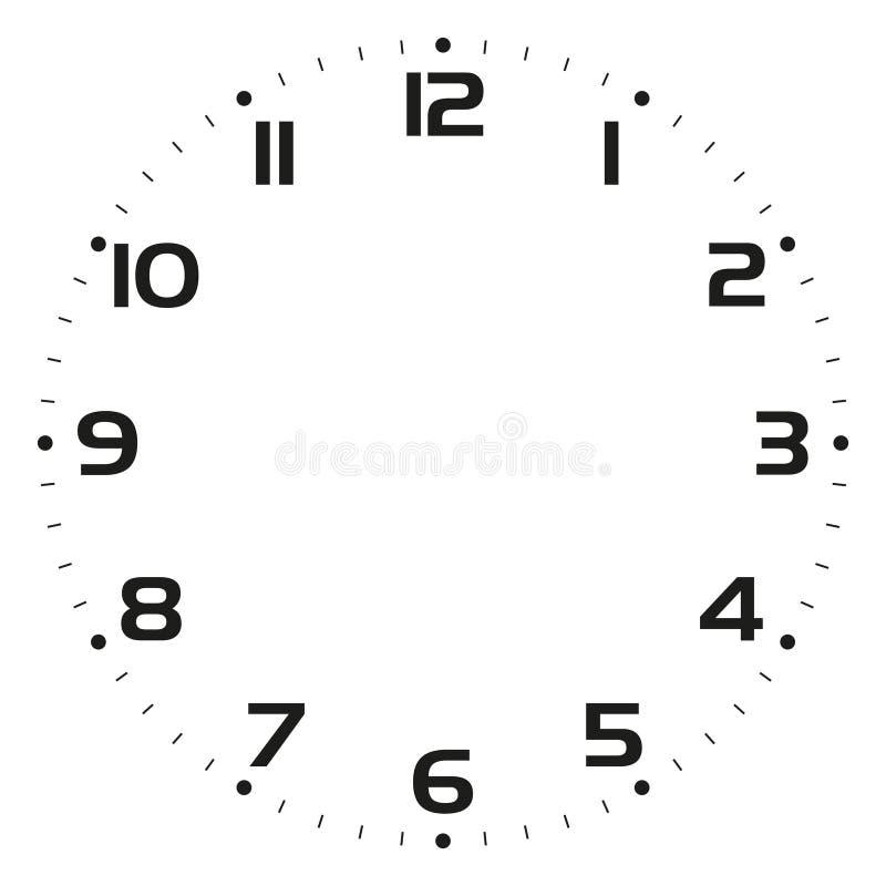 Face do relógio - ilustração do vetor ilustração stock