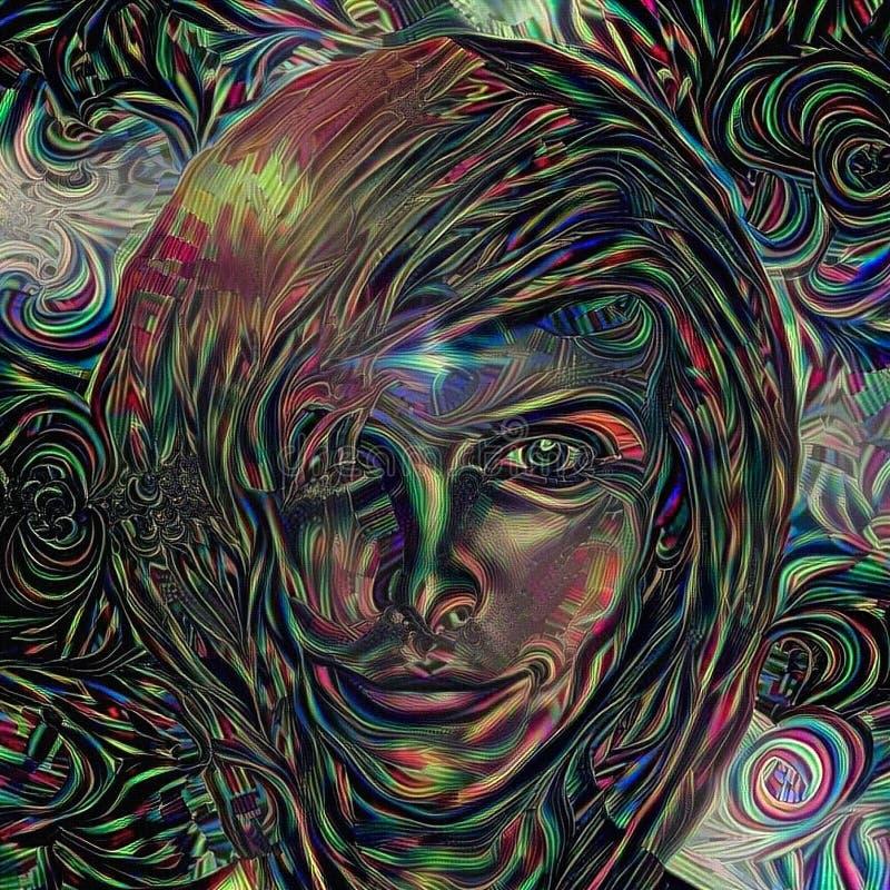Face do `s da mulher ilustração do vetor