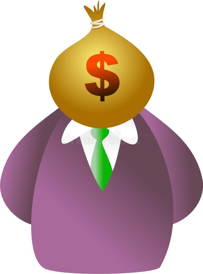 Face do saco do dinheiro ilustração royalty free