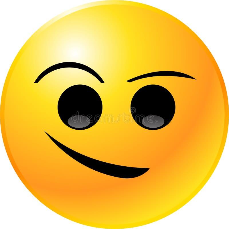 Face do smiley do Emoticon ilustração stock