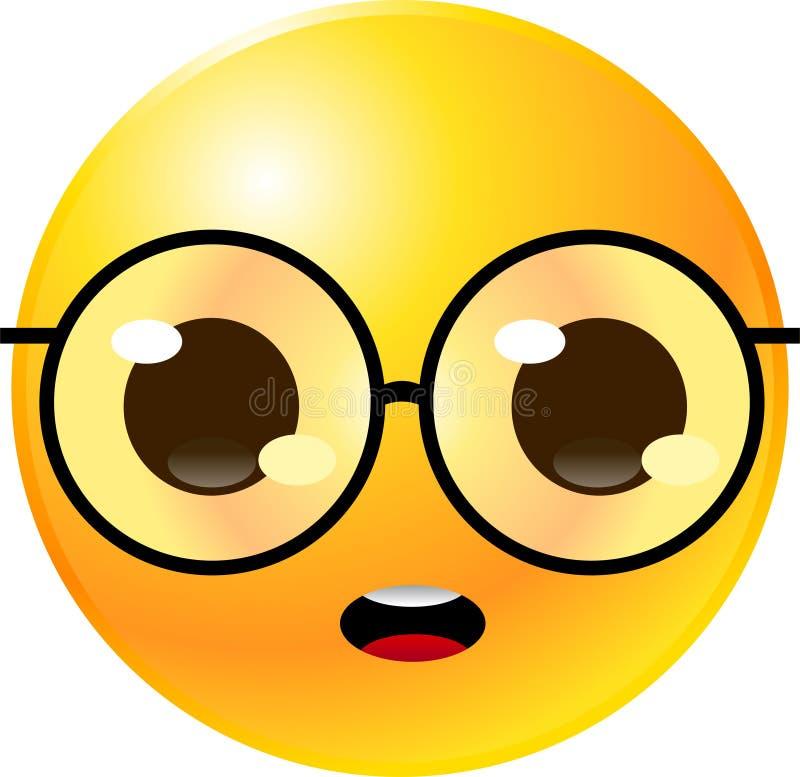 Face do smiley do Emoticon ilustração royalty free