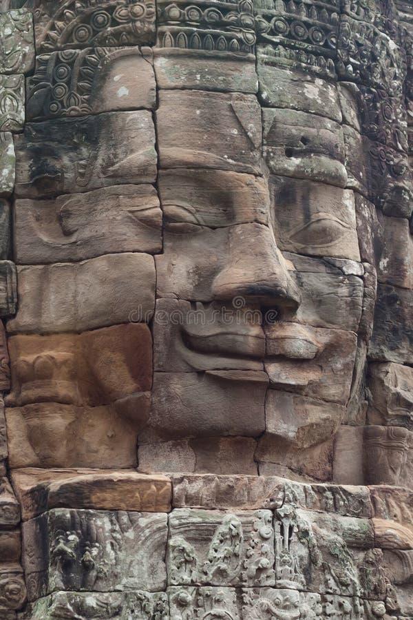 Face do templo de Bayon imagem de stock
