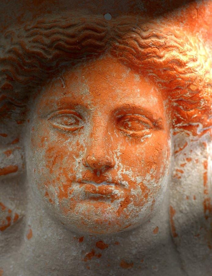 Face do Terracotta foto de stock royalty free