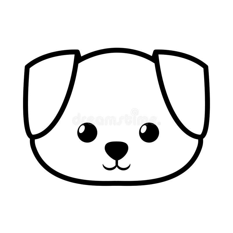 Face Dog Adorable Pedigree Outline Stock Illustration ... - photo#14