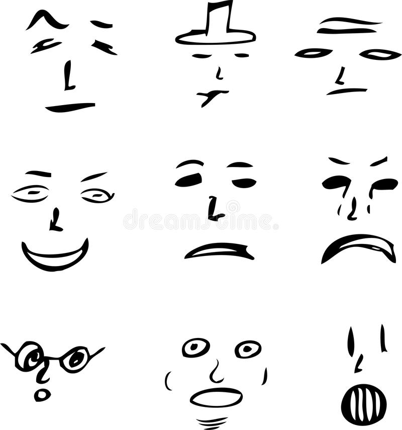 Face Doodles royalty free stock photography