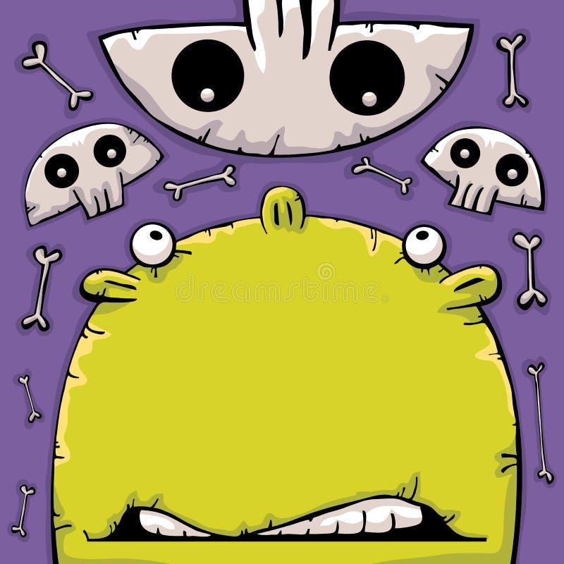 Face e crânios engraçados ilustração do vetor