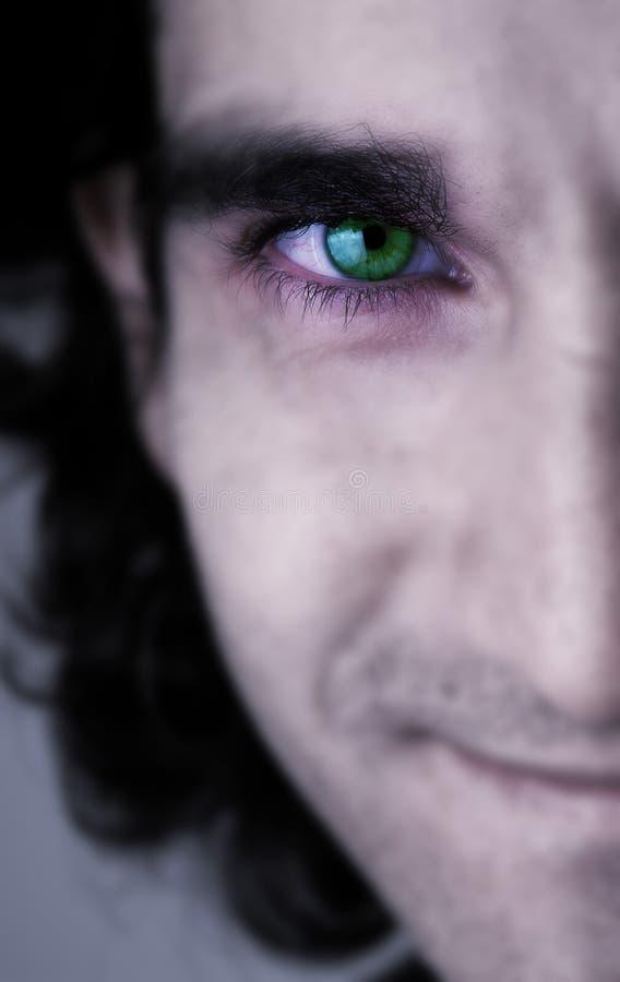 Face E Olho Verde Foto de Stock