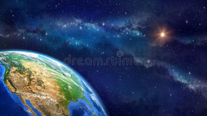 Face of the Earth royalty free illustration