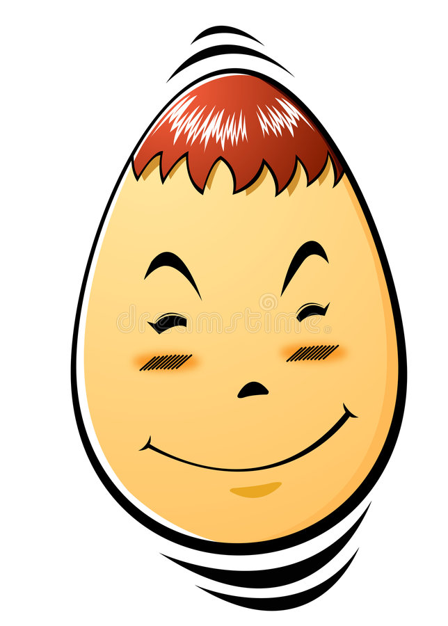 Face of egg royalty free stock photo