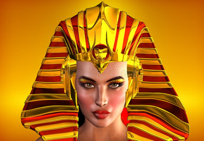 Cleopatra, The Face Of Egypt. vector illustration