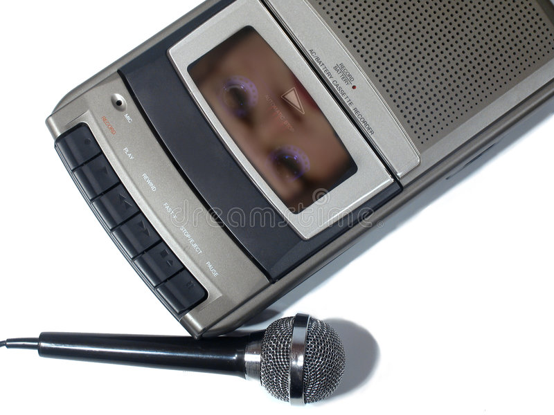 Face Eletrônica Do Fenômeno Da Voz Foto de Stock