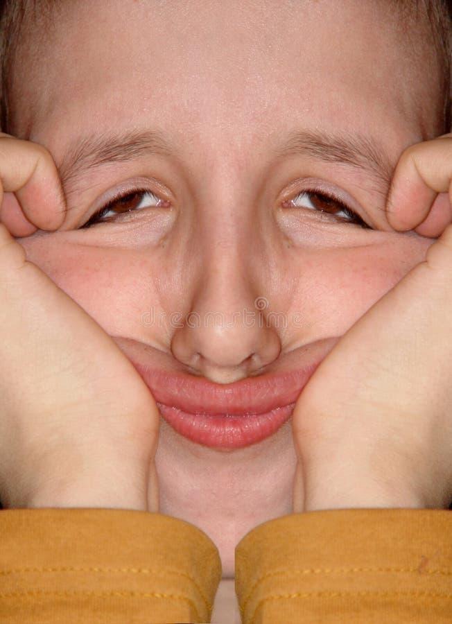 Face Engraçada Imagem de Stock