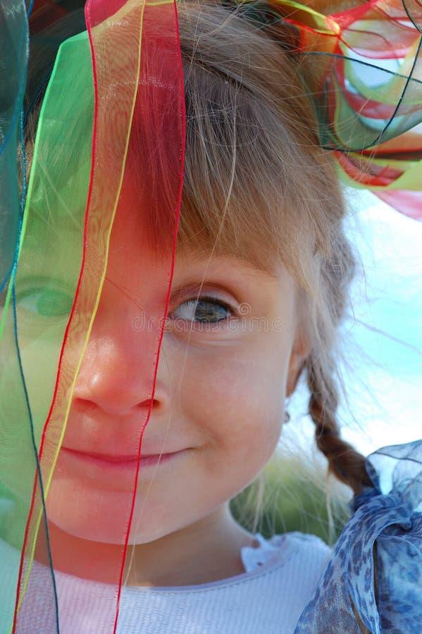 Face engraçada do carnaval da criança fotos de stock royalty free