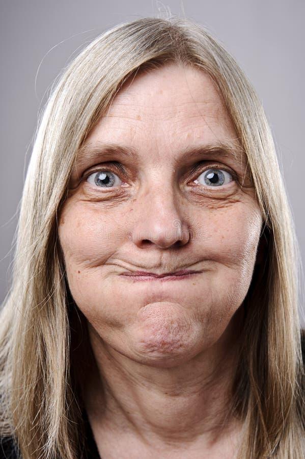 Face engraçada parva foto de stock