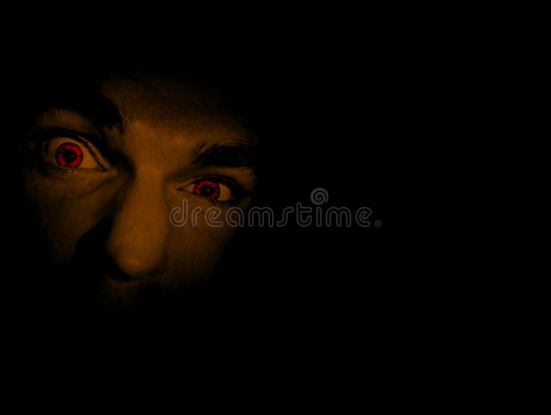 Download Face Of Evil stock photo. Image of darkness, frightening - 14351792