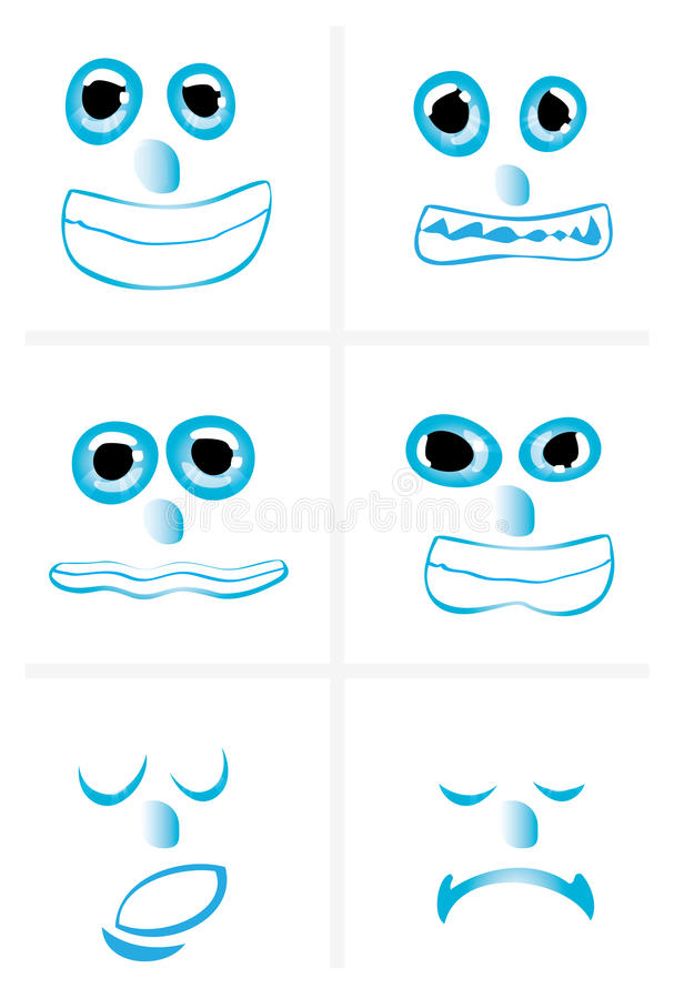 Download Face expressions stock vector. Illustration of ball, email - 12720754