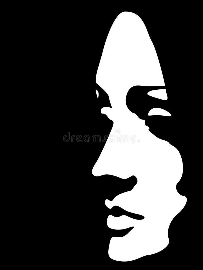 Face fêmea abstrata ilustração royalty free