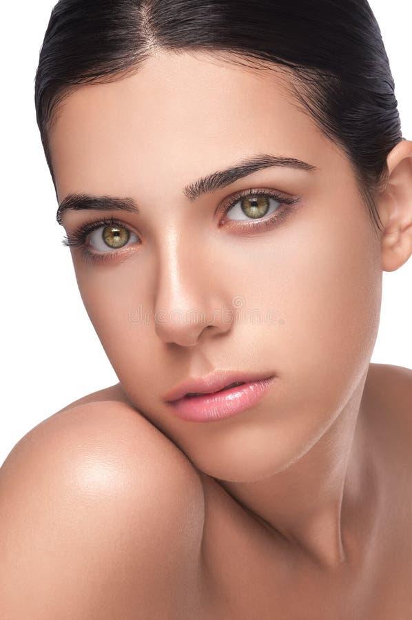 Face fêmea bonita foto de stock