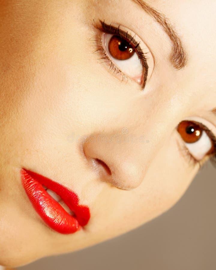 Face fêmea bonita foto de stock royalty free