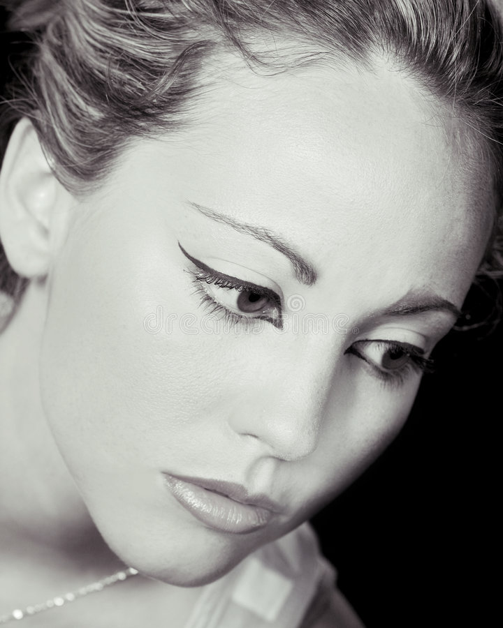 Face fêmea bonita fotos de stock