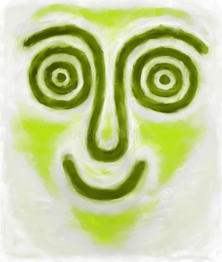Face feliz ilustração stock