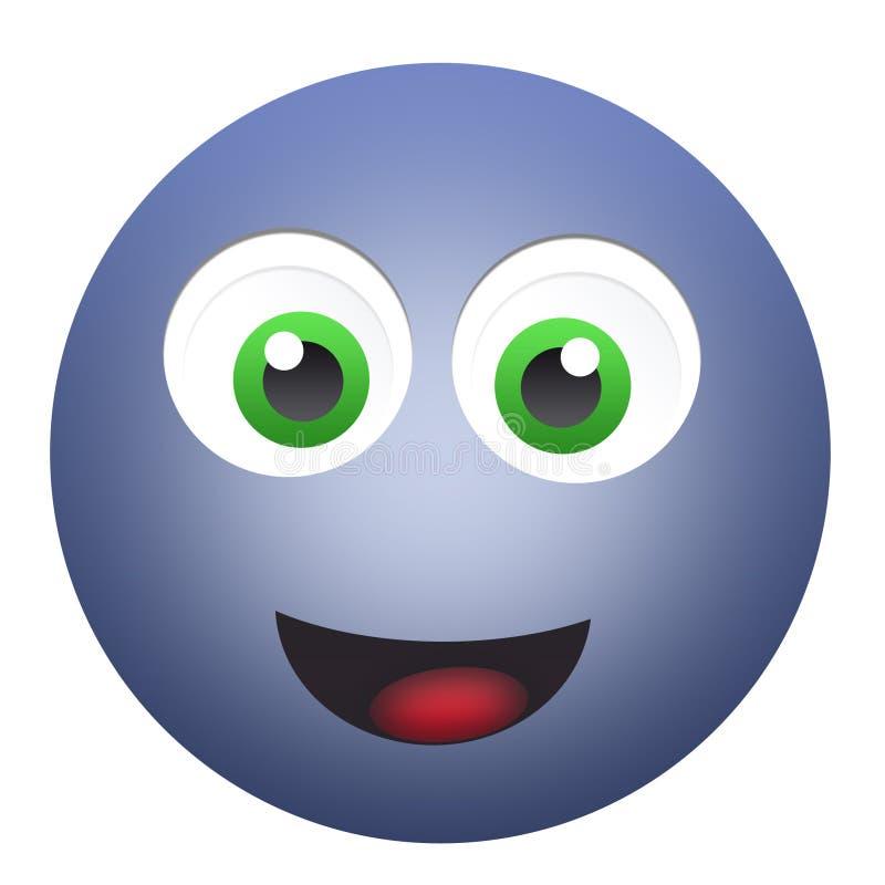 Cara feliz do emoticon fotos de stock royalty free