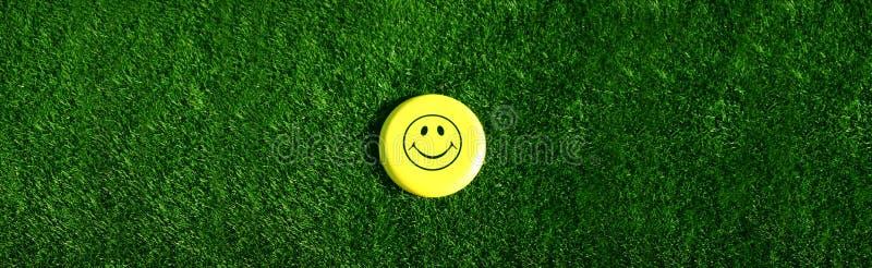Face feliz na grama foto de stock royalty free