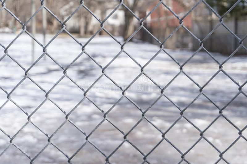 Face of a Fence at the Park stock photography
