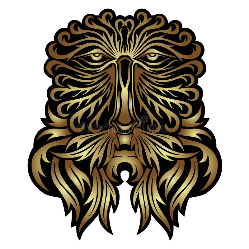 Face forest spirit mask royalty free illustration