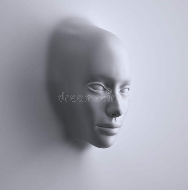 Face formed from an abstract 3d surface vector illustration