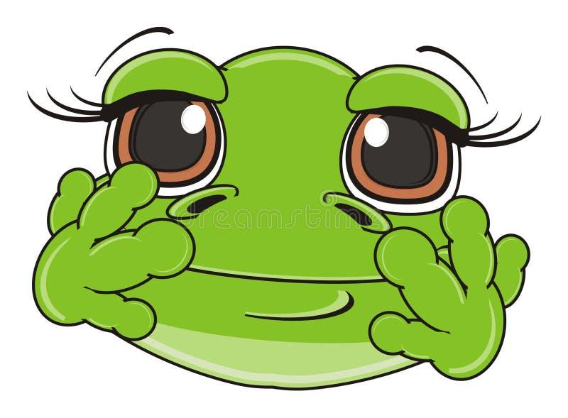 Face of frog girl stock illustration. Illustration of ...