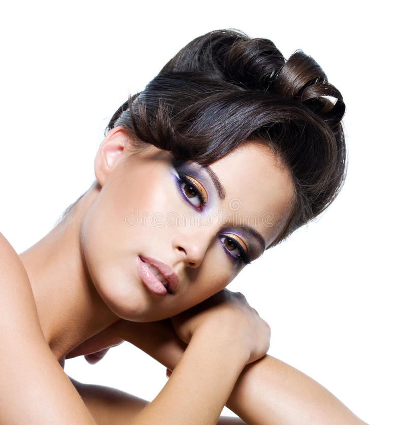 Download Face of a glamour woman stock photo. Image of cosmetic - 17665730