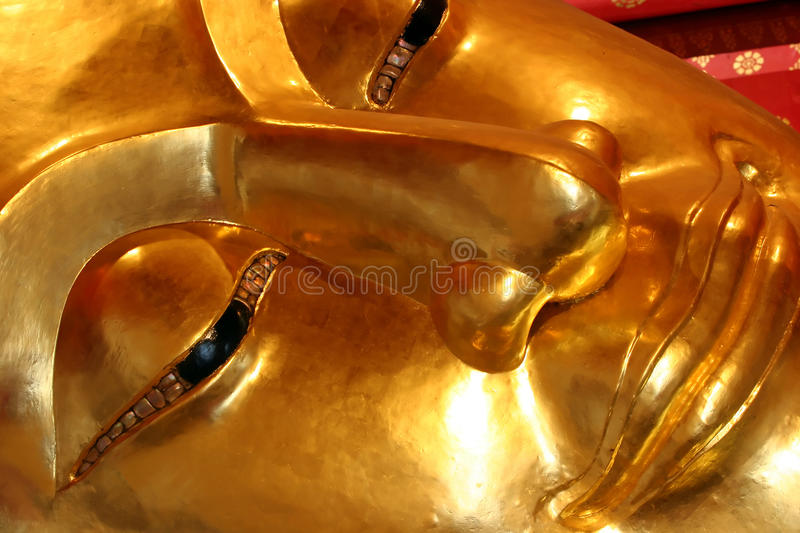 Face of Golden Buddha royalty free stock image