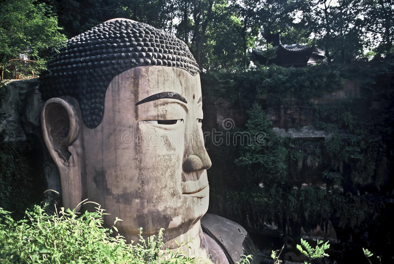 Download Face of the Grand Buddha stock image. Image of biggest - 21303293