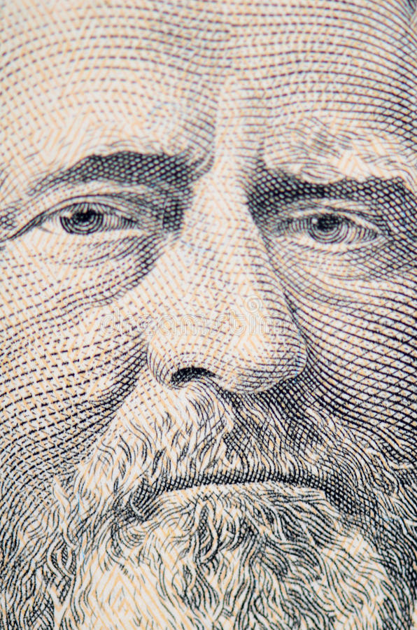 Download The Face Of Grant The Dollar Bill Macro Stock Photo - Image: 39759590