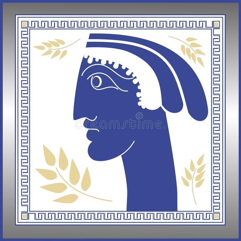 Face grega ilustração do vetor