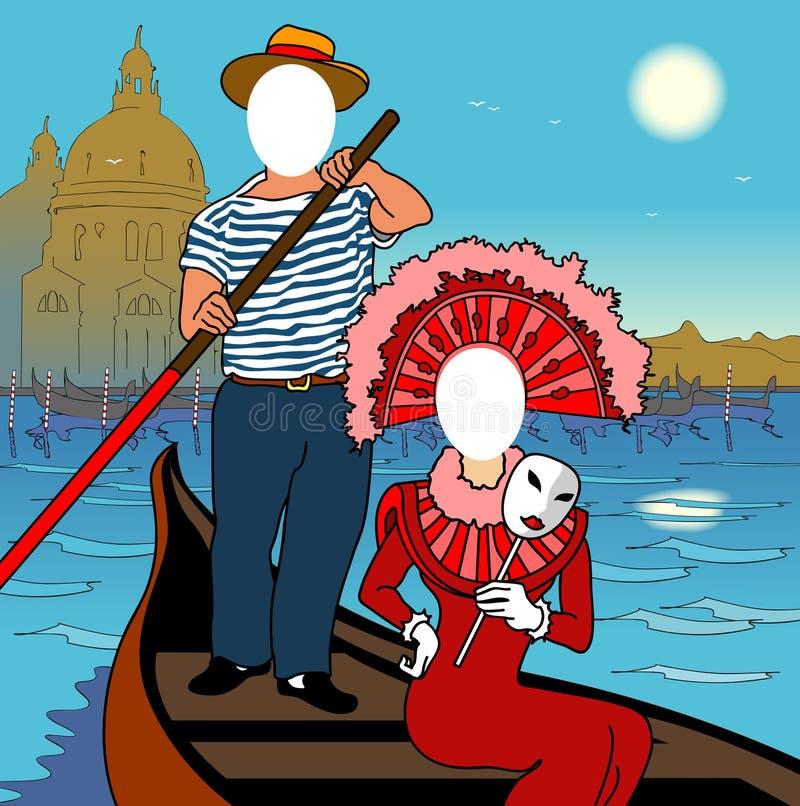Face in a hole. Venice. Face in a hole. Venice carnival vector illustration