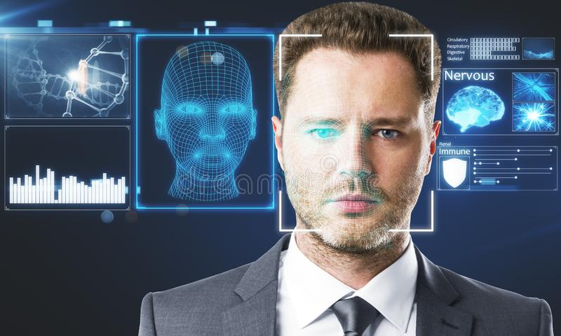 Face ID concept stock photography
