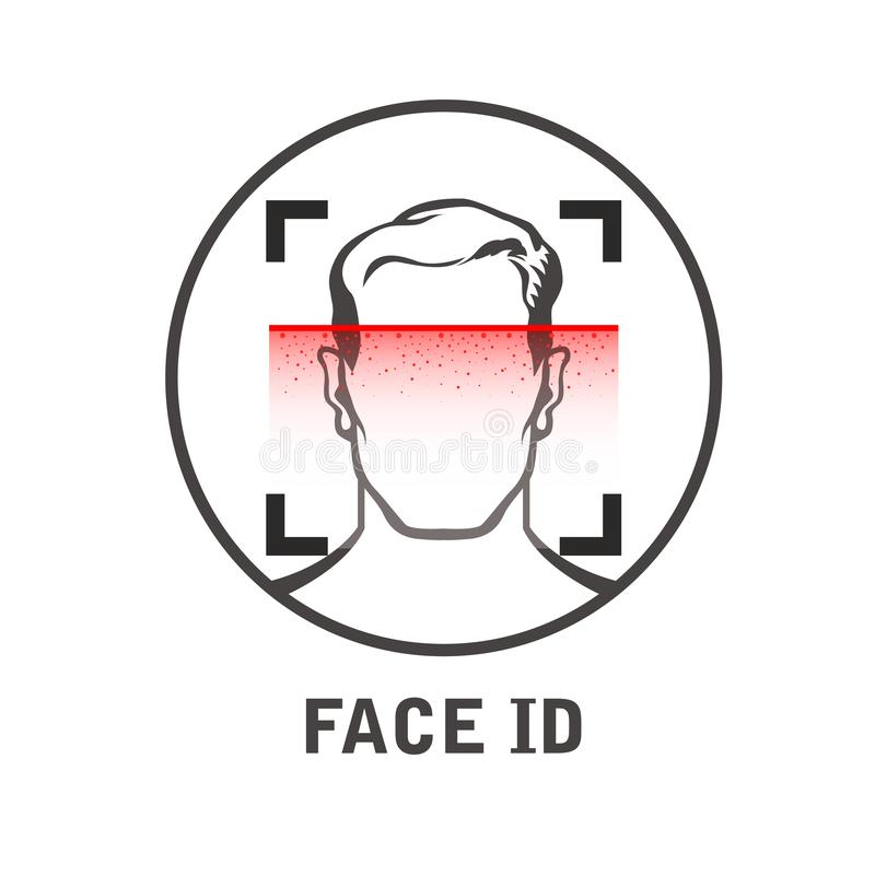 Free Face Id Scan Icon - Facial Scanner For Smart Phone, Face Scanning Process Stock Image - 156255541