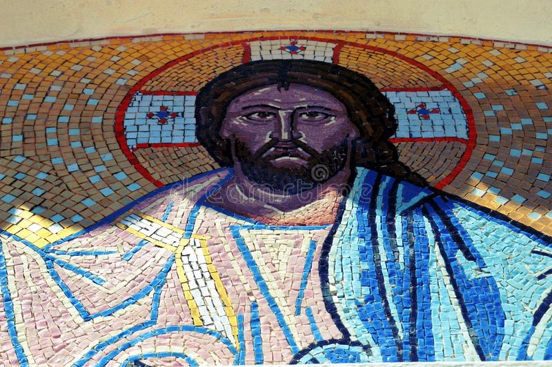 The face of Jesus it mosaic. stock images