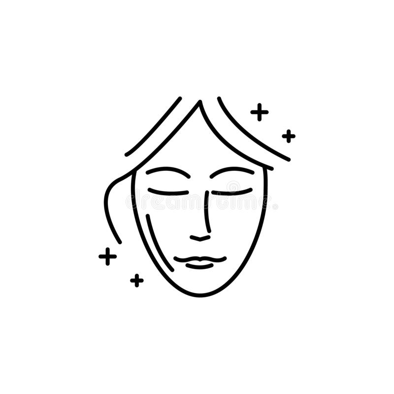 Face lift surgery beauty icon. Element of beauty and anti aging icon for mobile concept and web apps. Thin line Face lift surgery. Beauty icon can be used for royalty free illustration