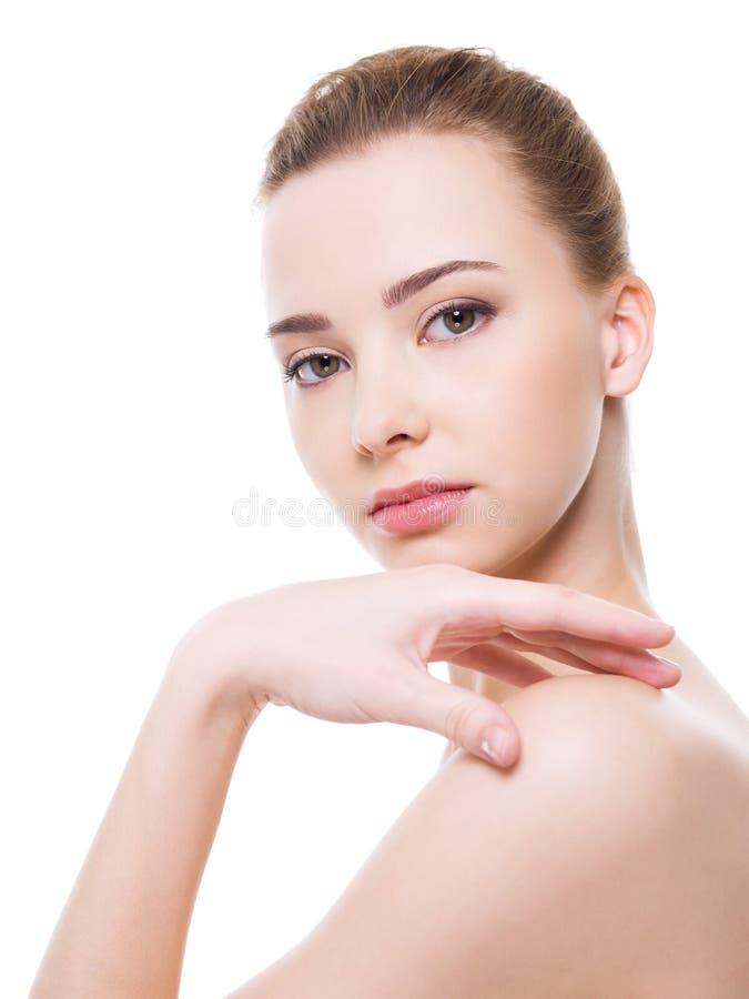 Face limpa bonita da mulher fotos de stock royalty free
